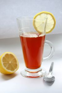 lemon, herbal tea, tea