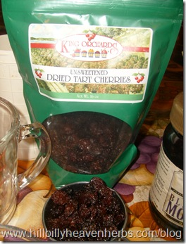 King Orchards Unsweetened Dried Tart Cherries, recipes